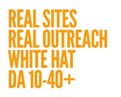We do manual blogger outreach to real sites, 100% white hat guest posting, high domain authority sits