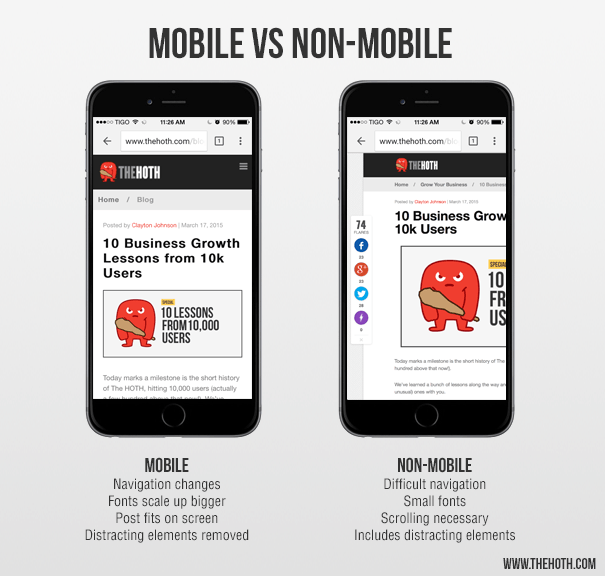 Mobile vs non-mobile