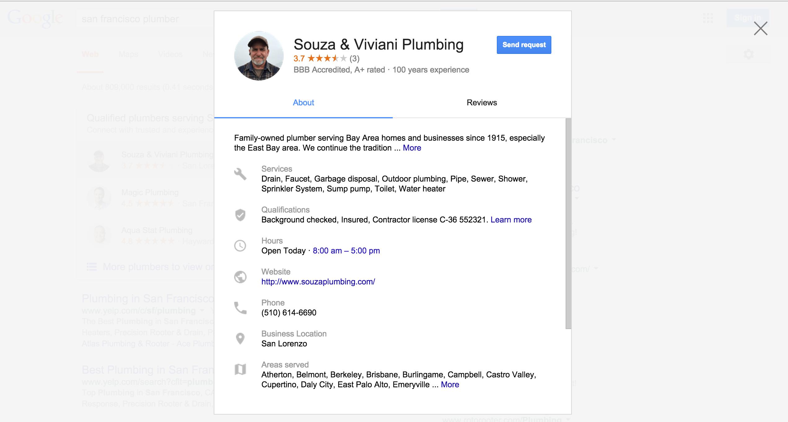 Google Scraping Content
