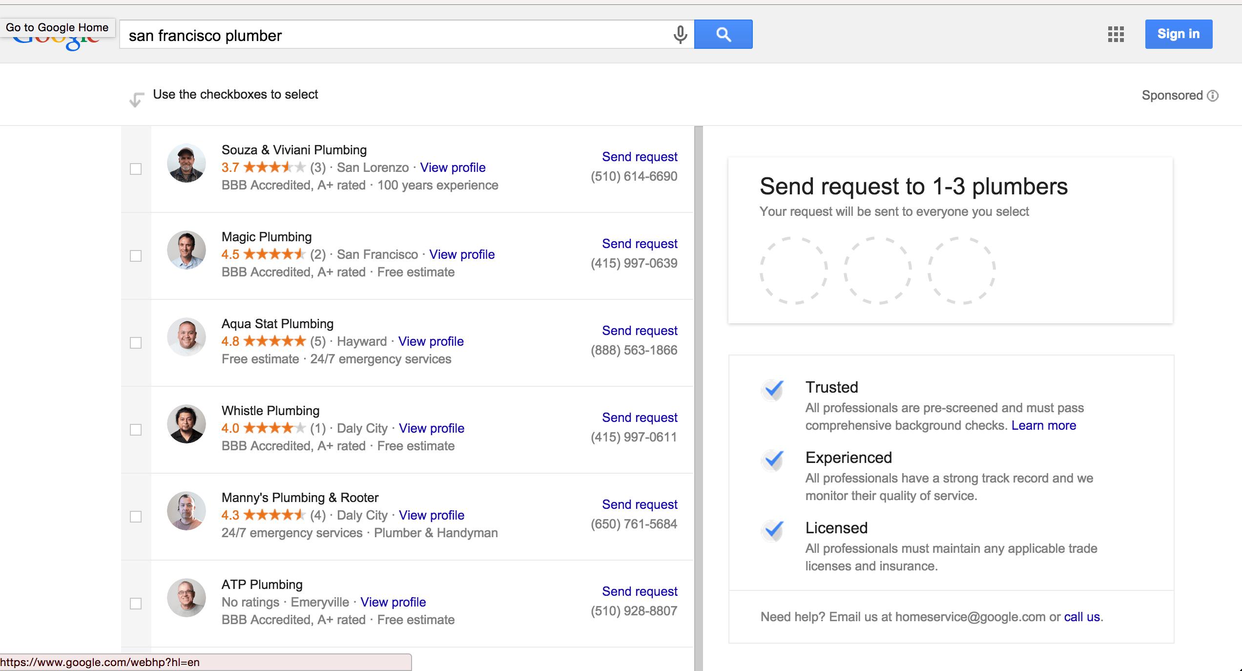 Google lead capture
