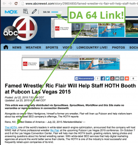 ABC Press Release Example