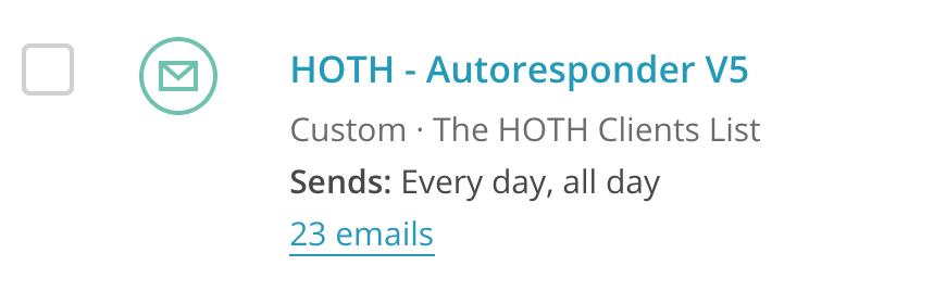 HOTH Email Autoresponder