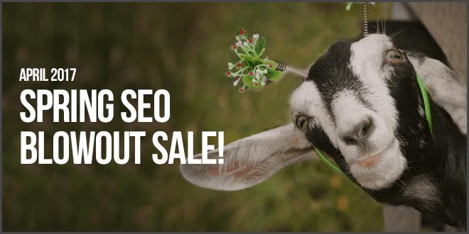 April 2017 SEO Sale