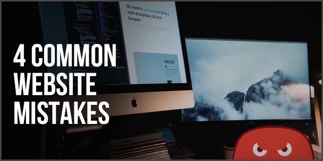 4 common website mistakes