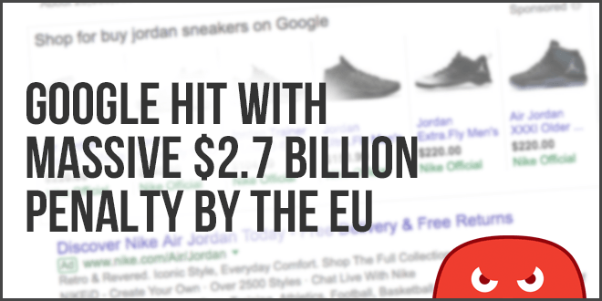 google hit with massive fine by the EU