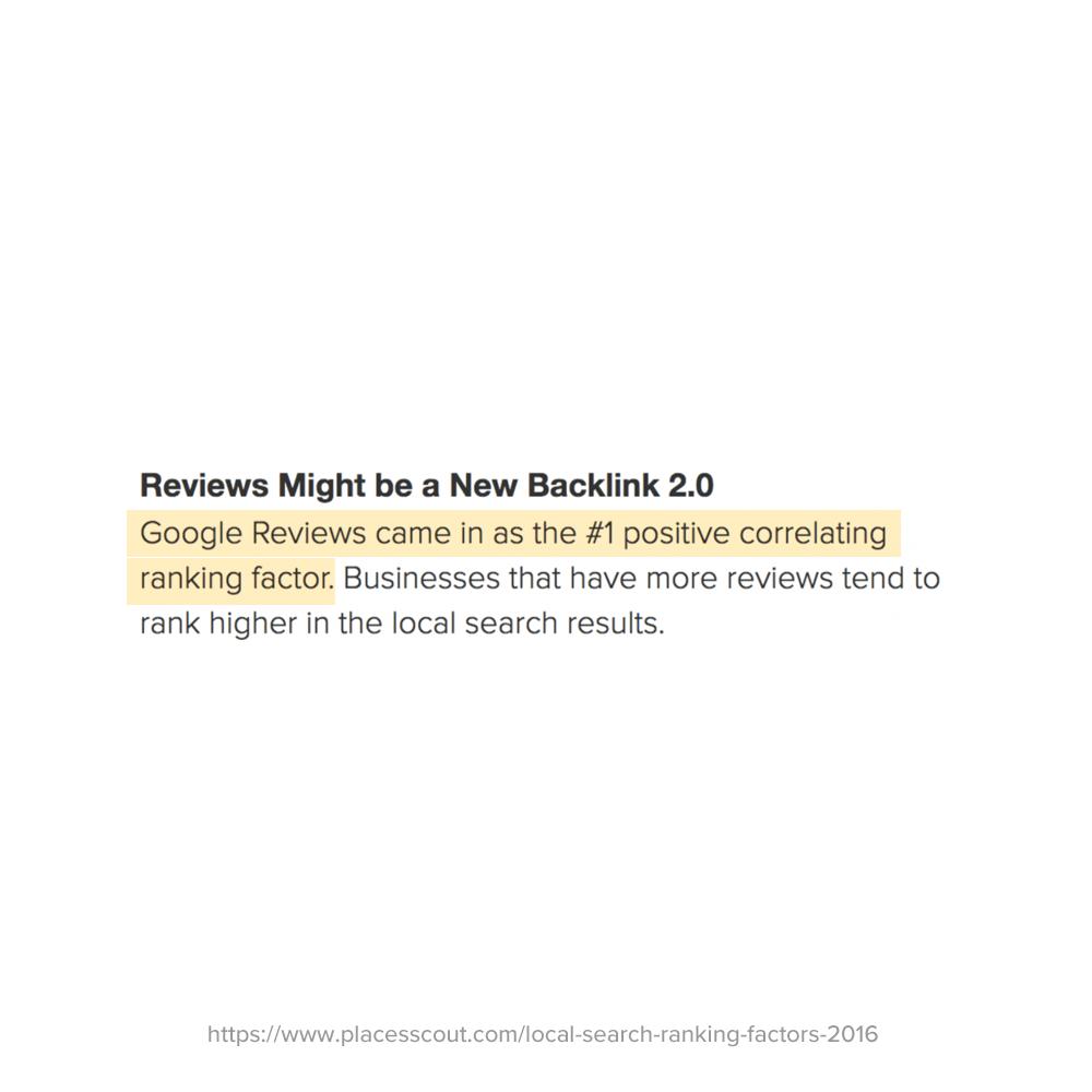 reviews help google rankings