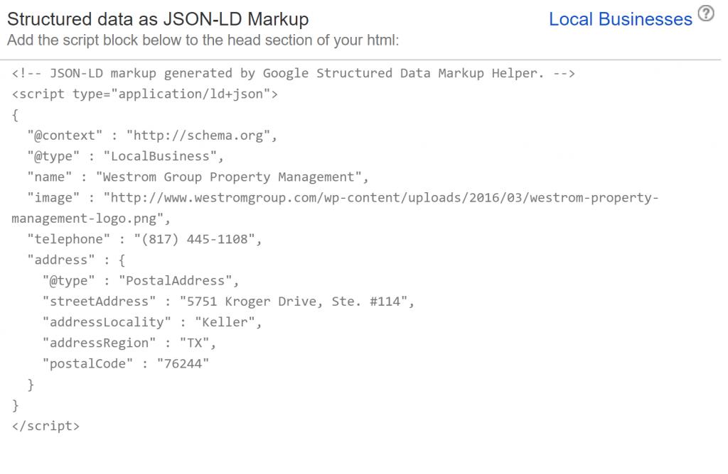 Schema Code Markup