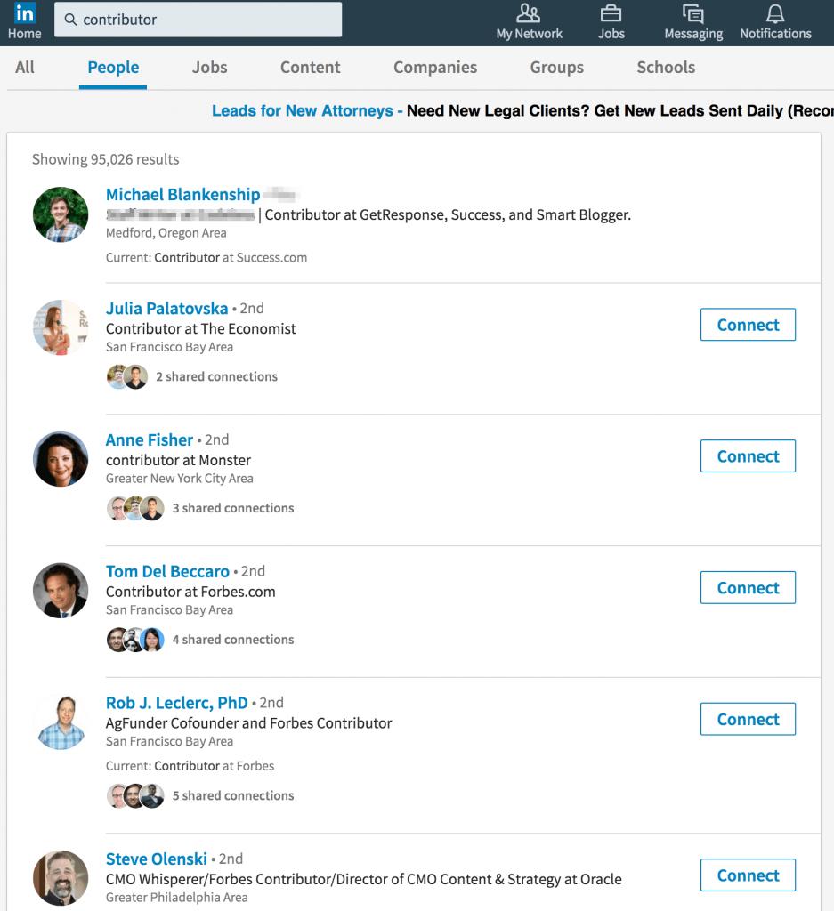 Linkedin contributors
