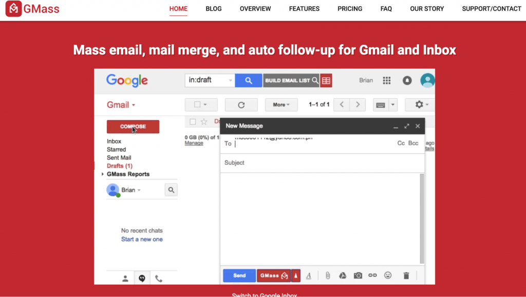 mass outreach from gmail