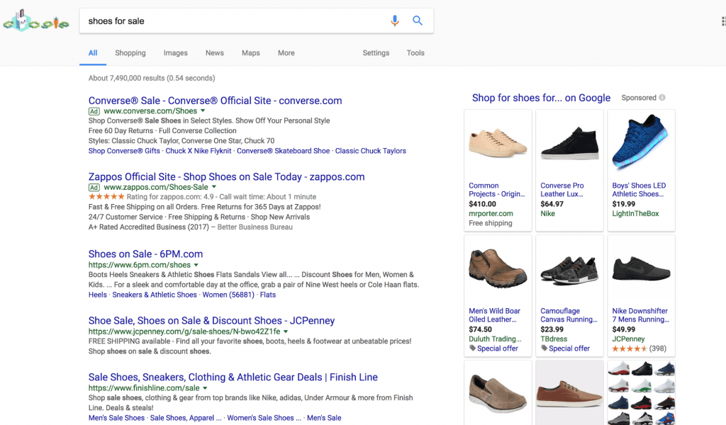 Shoes Search Results