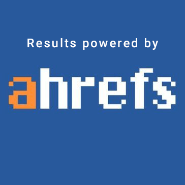 Results powered by ahrefs