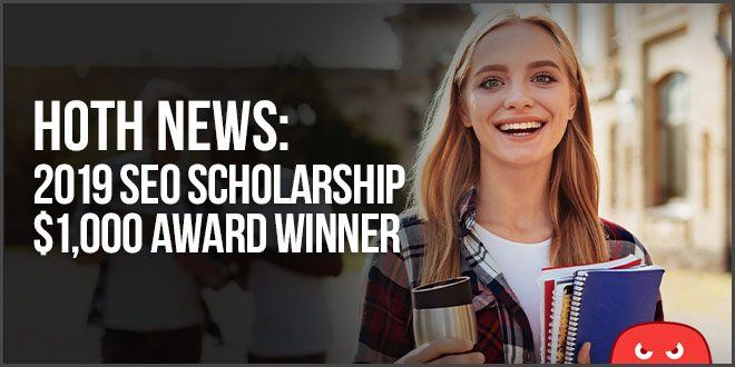 hoth seo scholarship winner