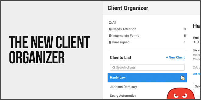 SEO client project organizer