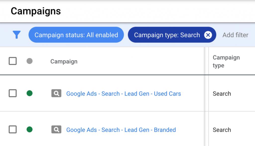 new ppc search campaigns