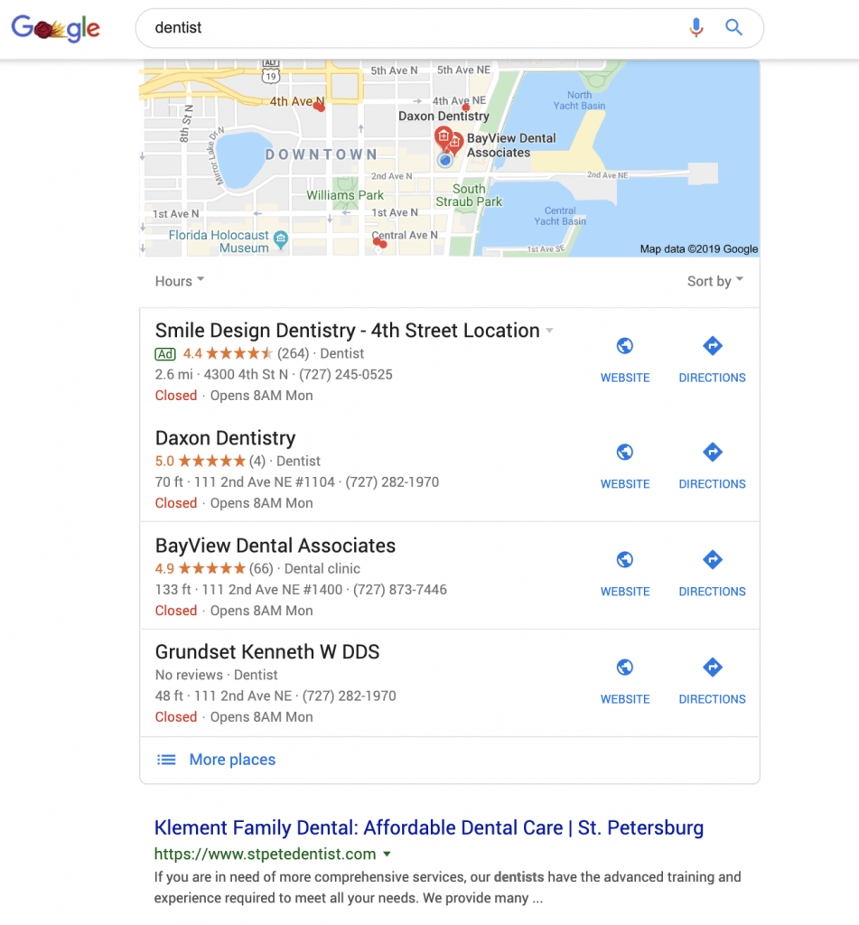 local seo search results